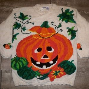 New With Tags Vtg Honors Halloween Mens Sweater XL